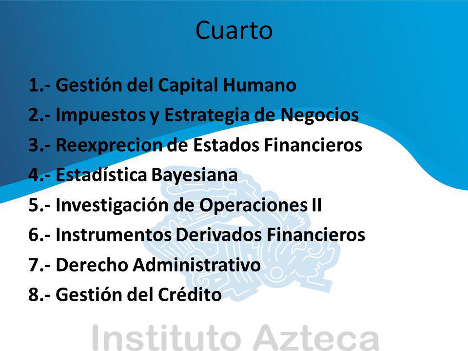 Cuarto 1.- Gestión del Capital Humano