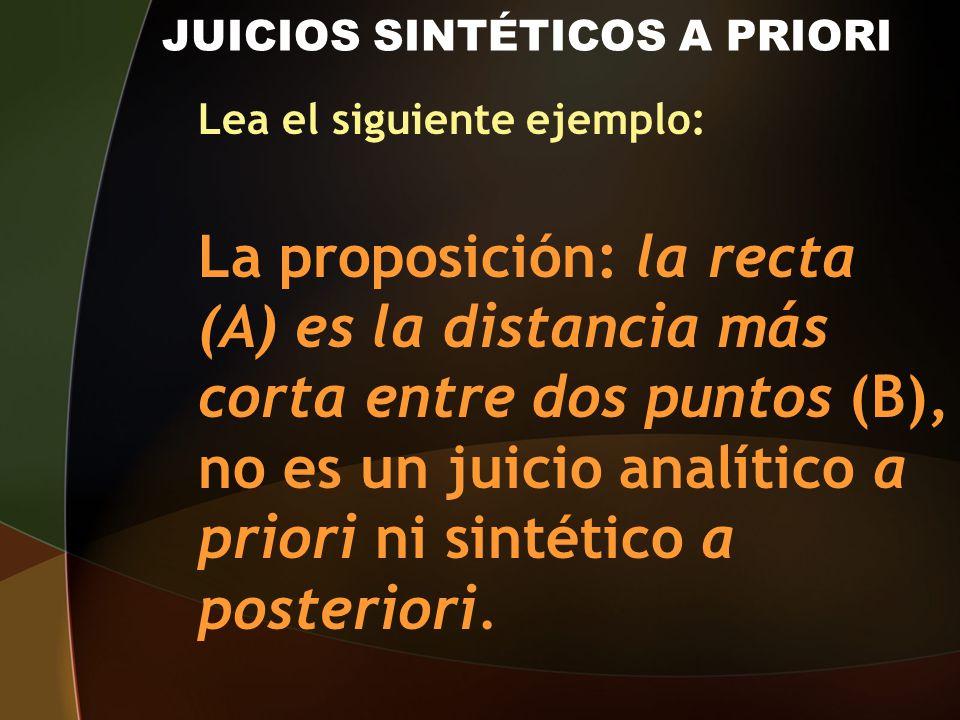 JUICIOS SINTÉTICOS A PRIORI