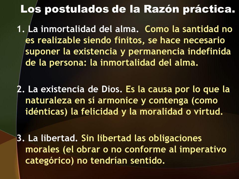 Los postulados de la Razón práctica.