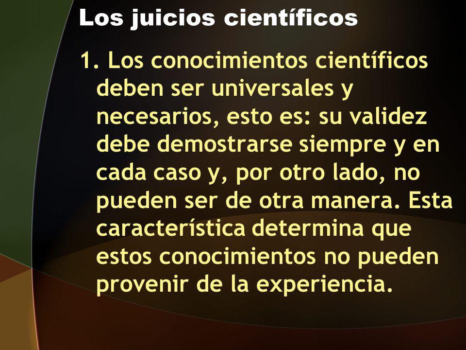 Los juicios científicos