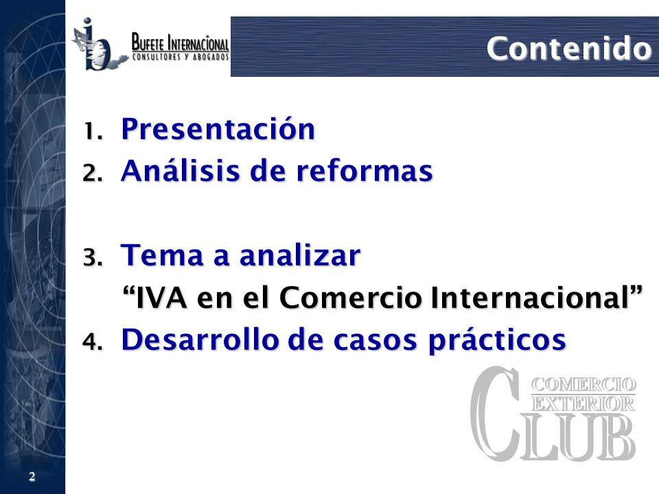 IVA en el Comercio Internacional