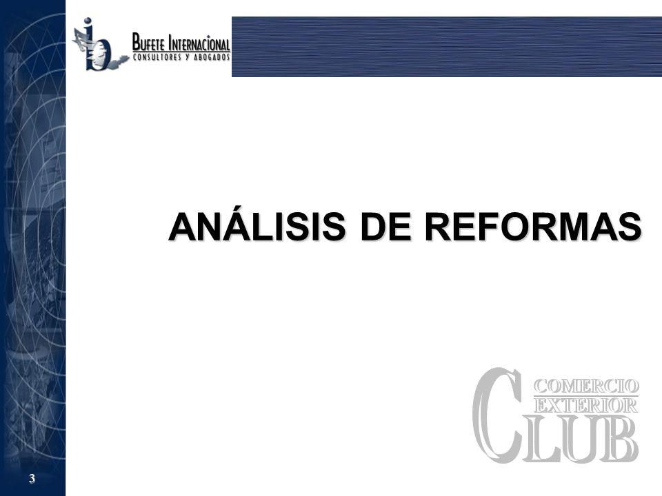 ANÁLISIS DE REFORMAS