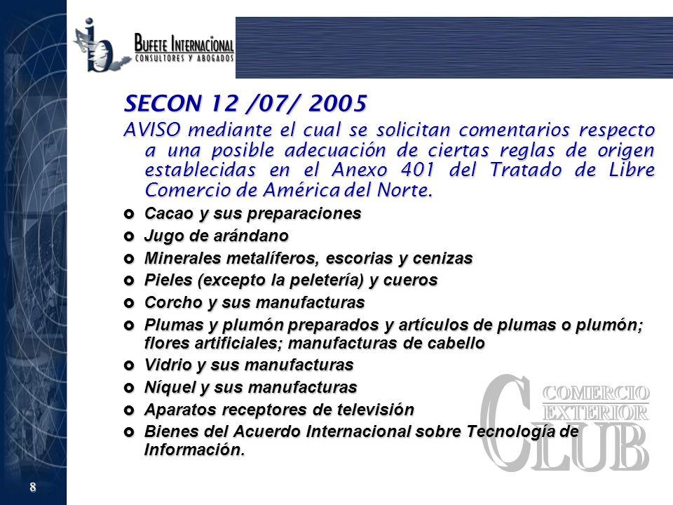 SECON 12 /07/ 2005
