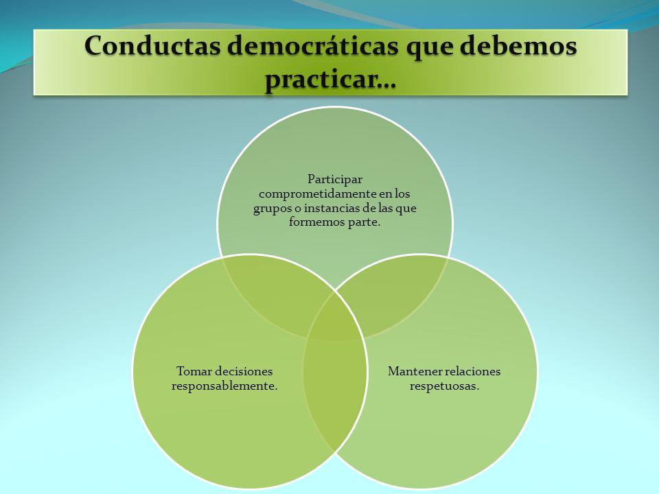 Conductas democráticas que debemos practicar…
