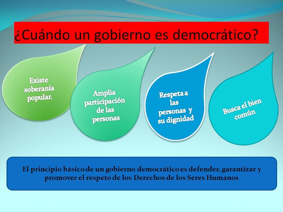 ¿Cuándo un gobierno es democrático