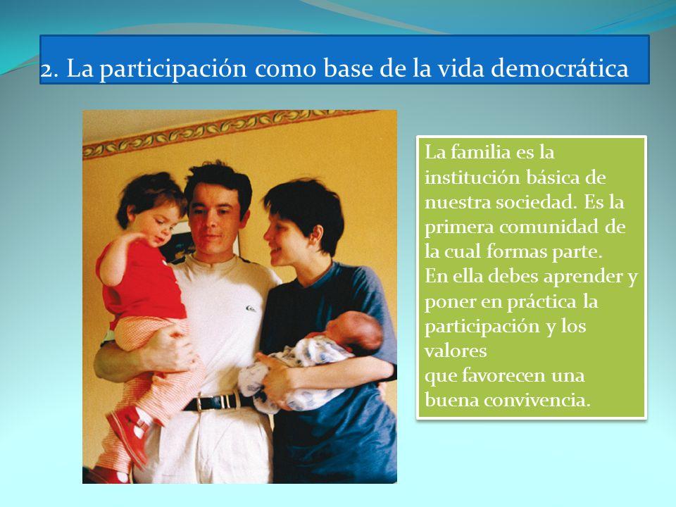 2. La participación como base de la vida democrática