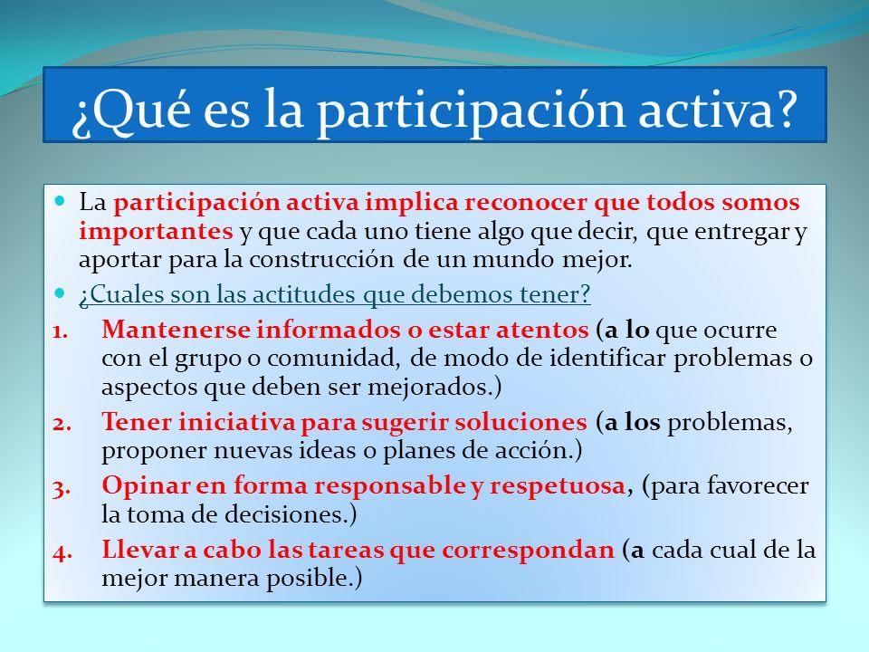 ¿Qué es la participación activa