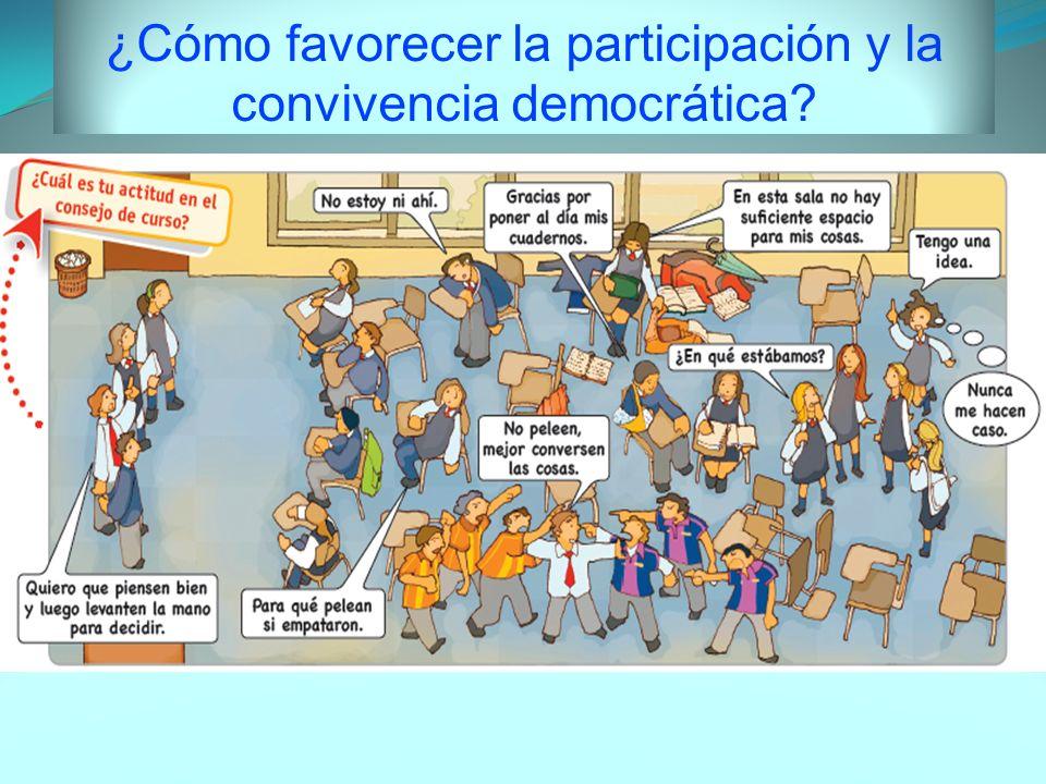 ¿Cómo favorecer la participación y la convivencia democrática