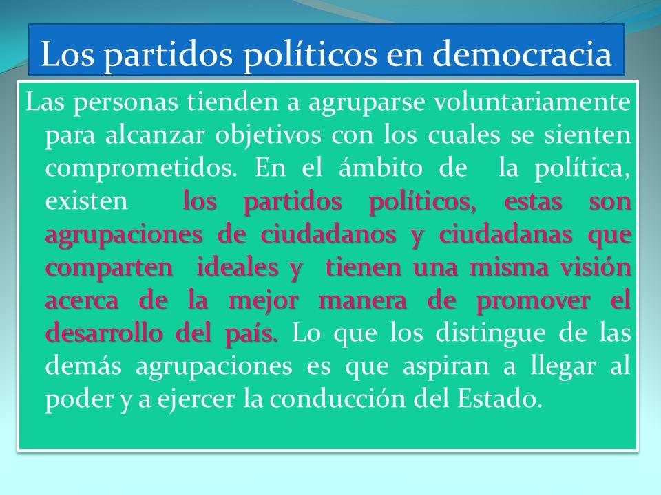 Los partidos políticos en democracia