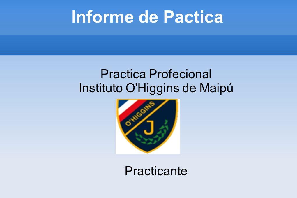 Practica Profecional Instituto O Higgins de Maipú Practicante