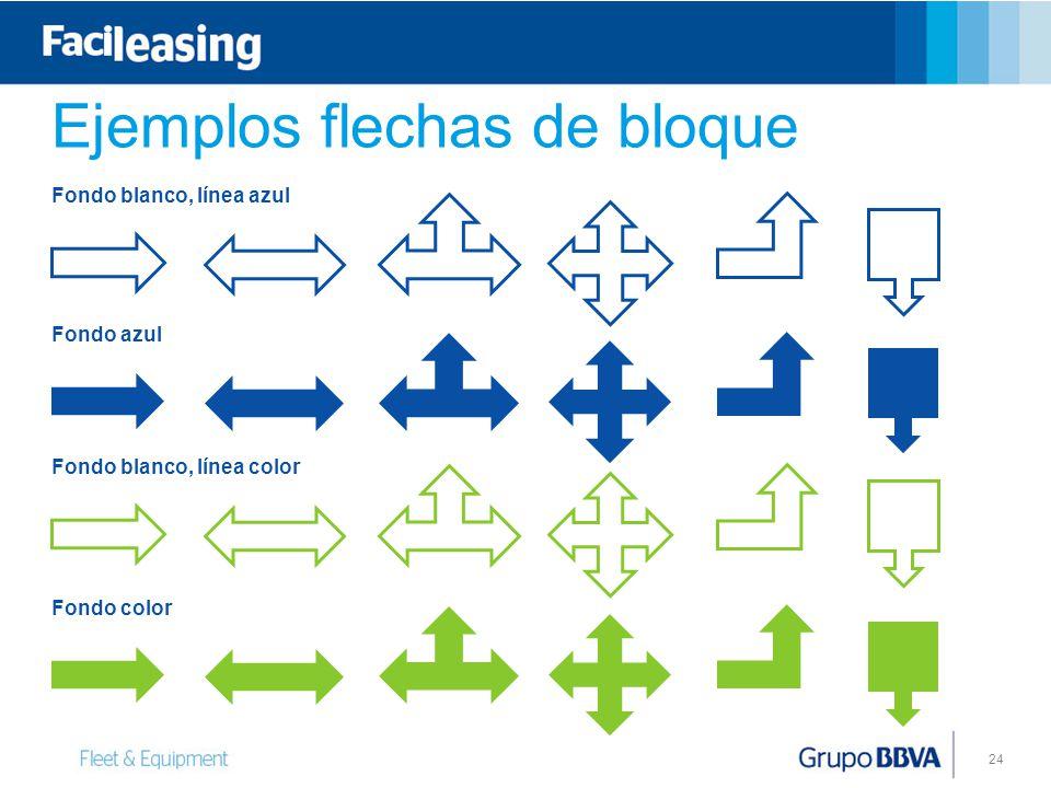 Ejemplos flechas de bloque