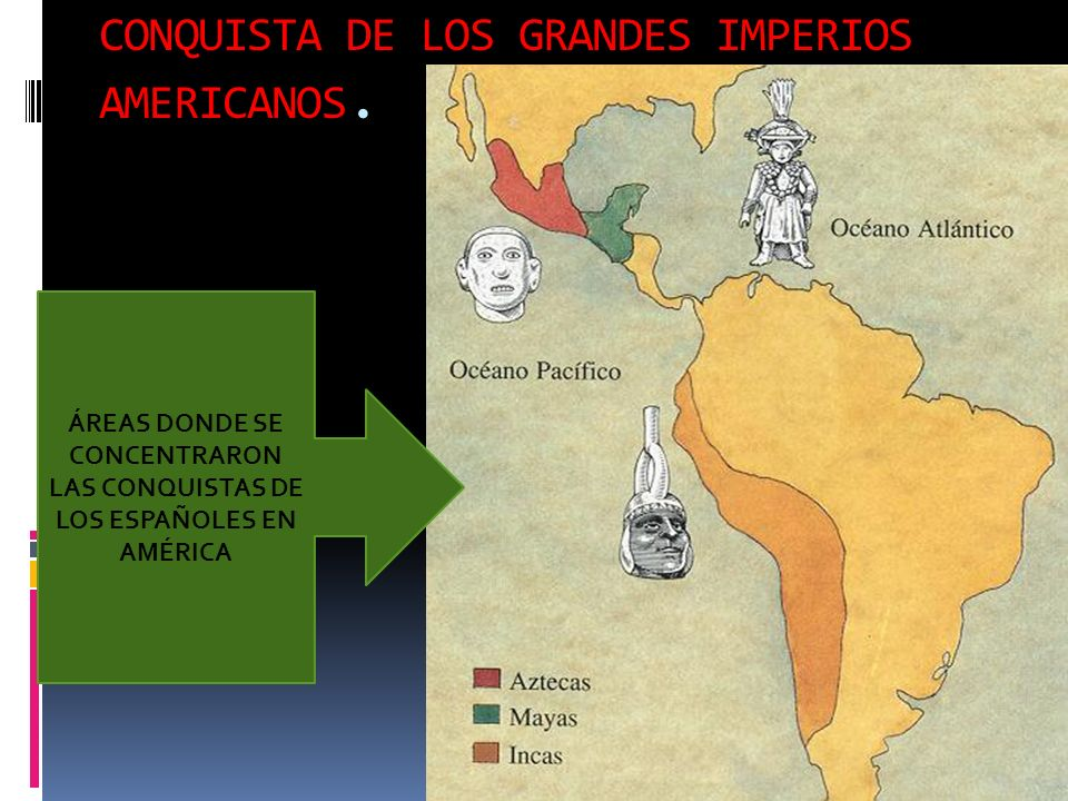 CONQUISTA DE LOS GRANDES IMPERIOS AMERICANOS.
