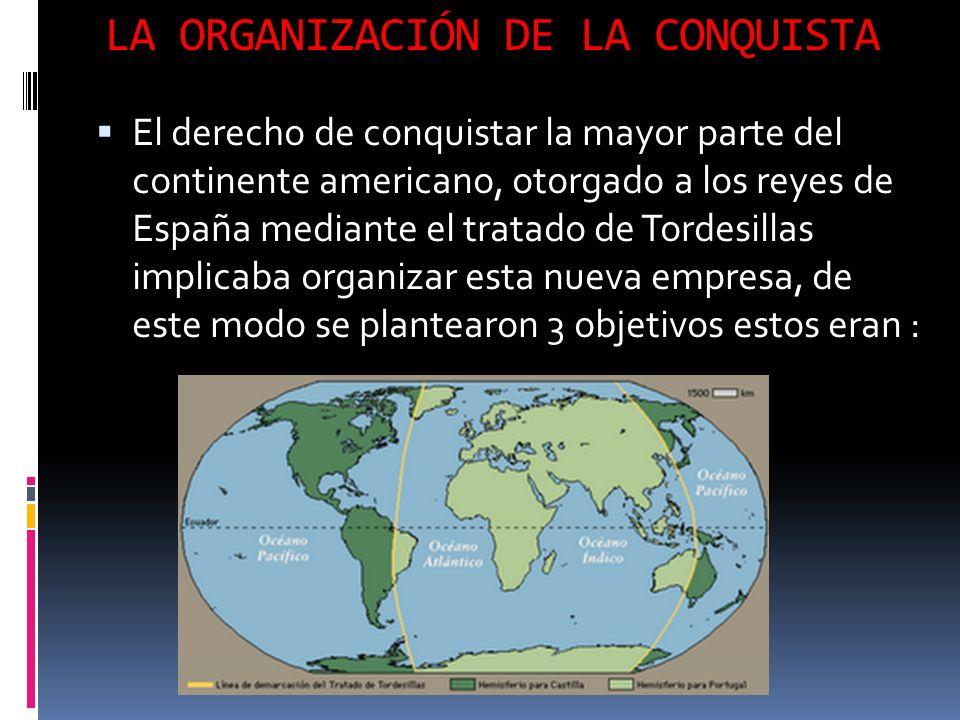 LA ORGANIZACIÓN DE LA CONQUISTA
