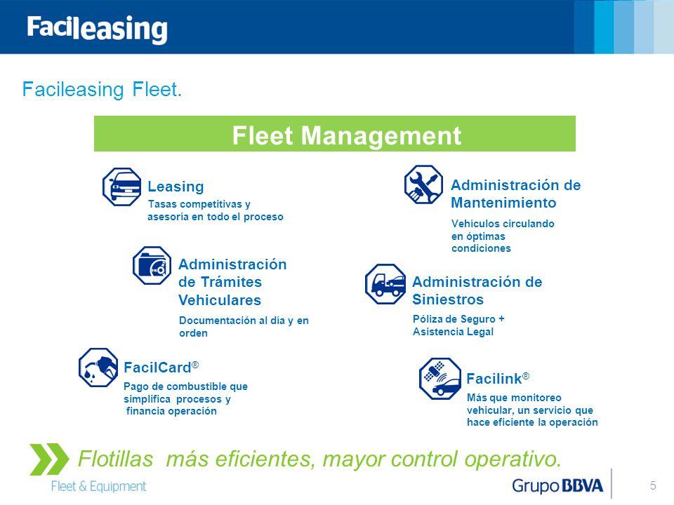 Fleet Management Flotillas más eficientes, mayor control operativo.