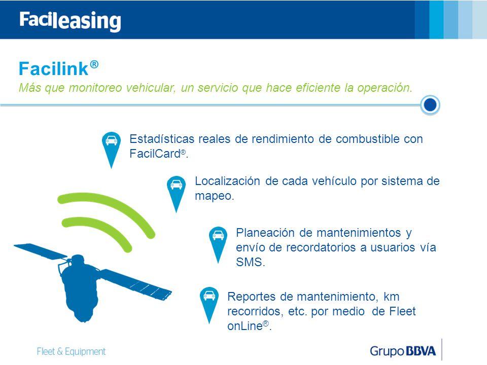 Facilink® Más que monitoreo vehicular, un servicio que hace eficiente la operación.