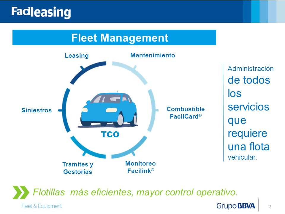 Fleet Management Flotillas más eficientes, mayor control operativo.