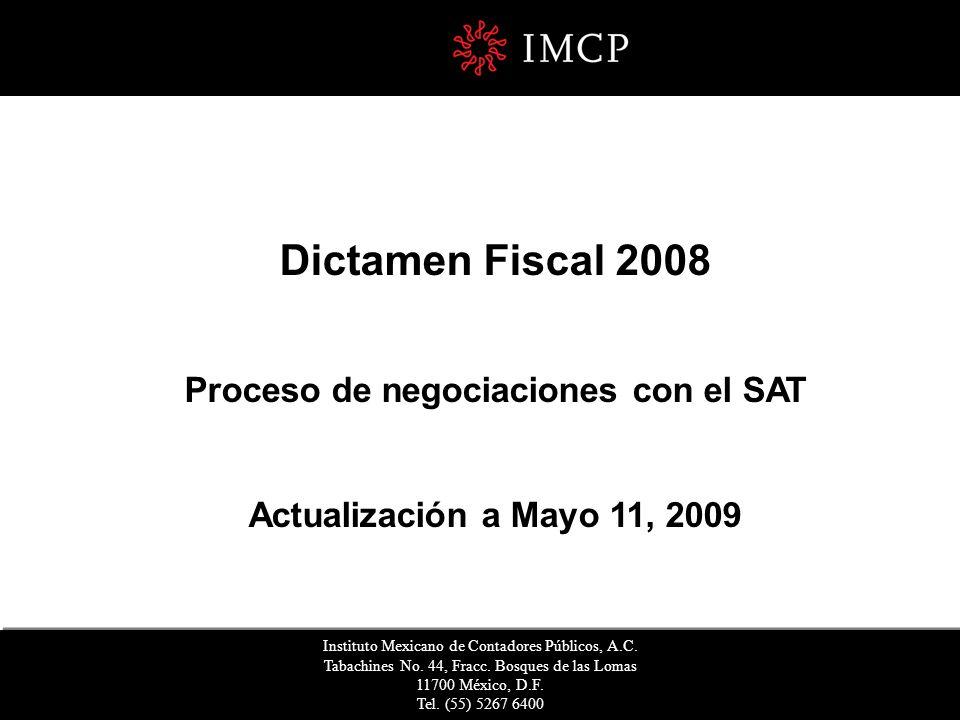 Proceso de negociaciones con el SAT