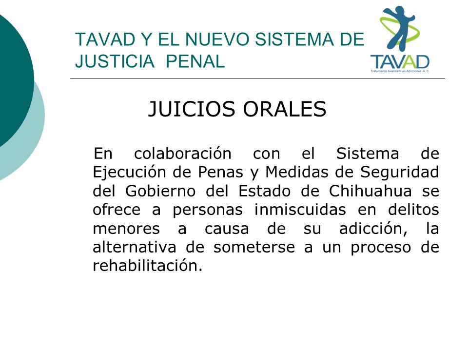 TAVAD Y EL NUEVO SISTEMA DE JUSTICIA PENAL