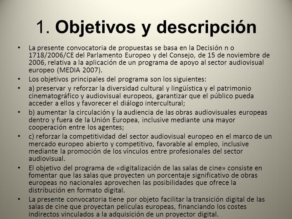 1. Objetivos y descripción