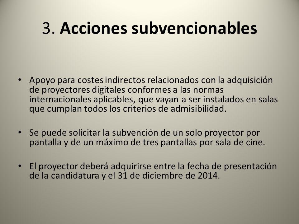3. Acciones subvencionables