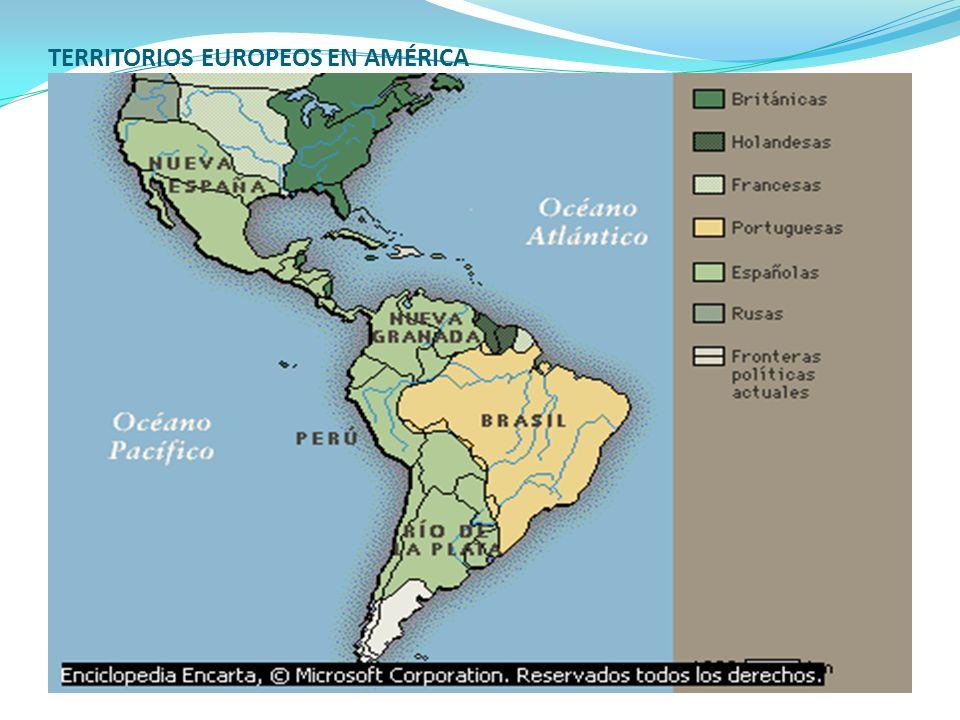 TERRITORIOS EUROPEOS EN AMÉRICA