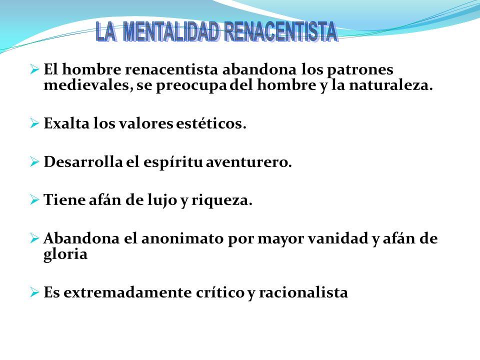 LA MENTALIDAD RENACENTISTA