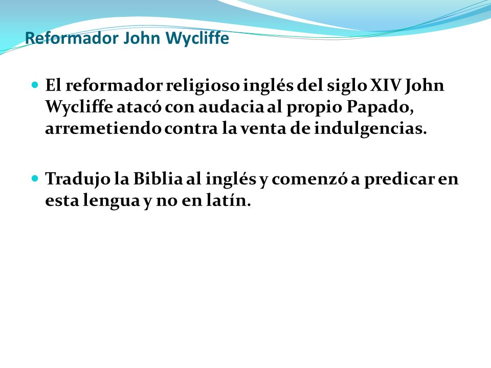 Reformador John Wycliffe