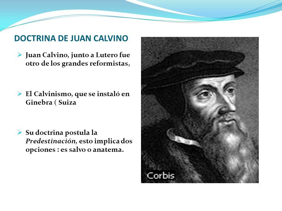 DOCTRINA DE JUAN CALVINO