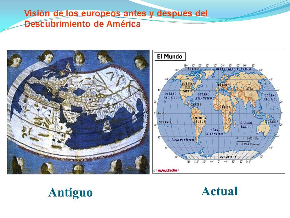 Visión de los europeos antes y después del Descubrimiento de América