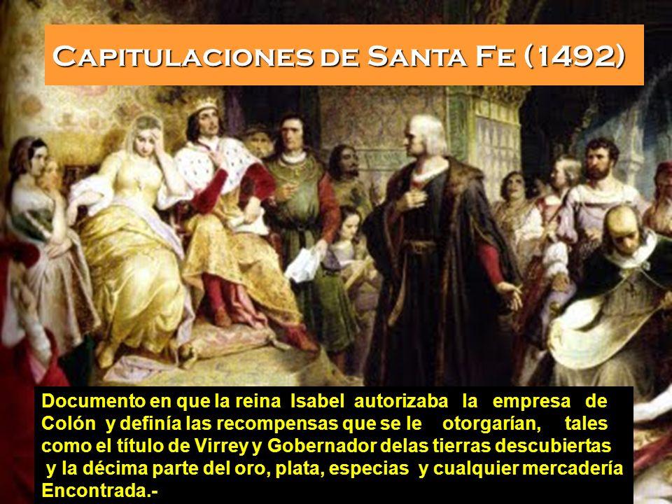 Capitulaciones de Santa Fe (1492)