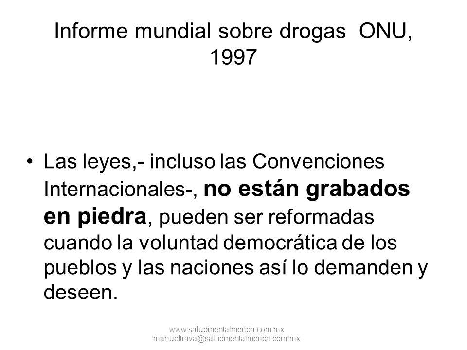 Informe mundial sobre drogas ONU, 1997