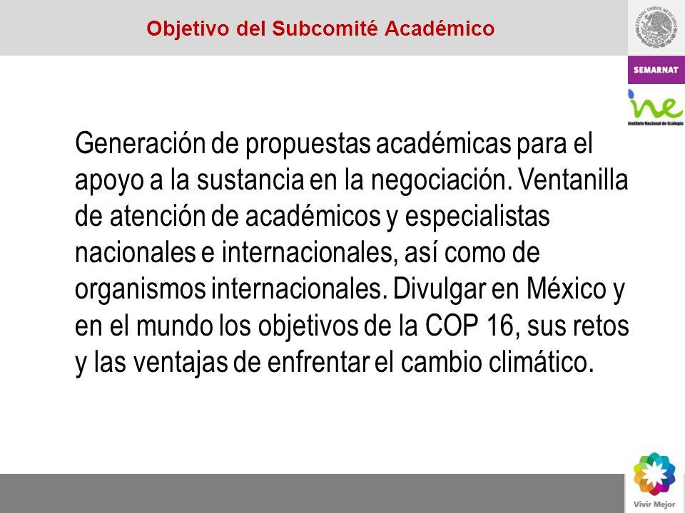 Objetivo del Subcomité Académico
