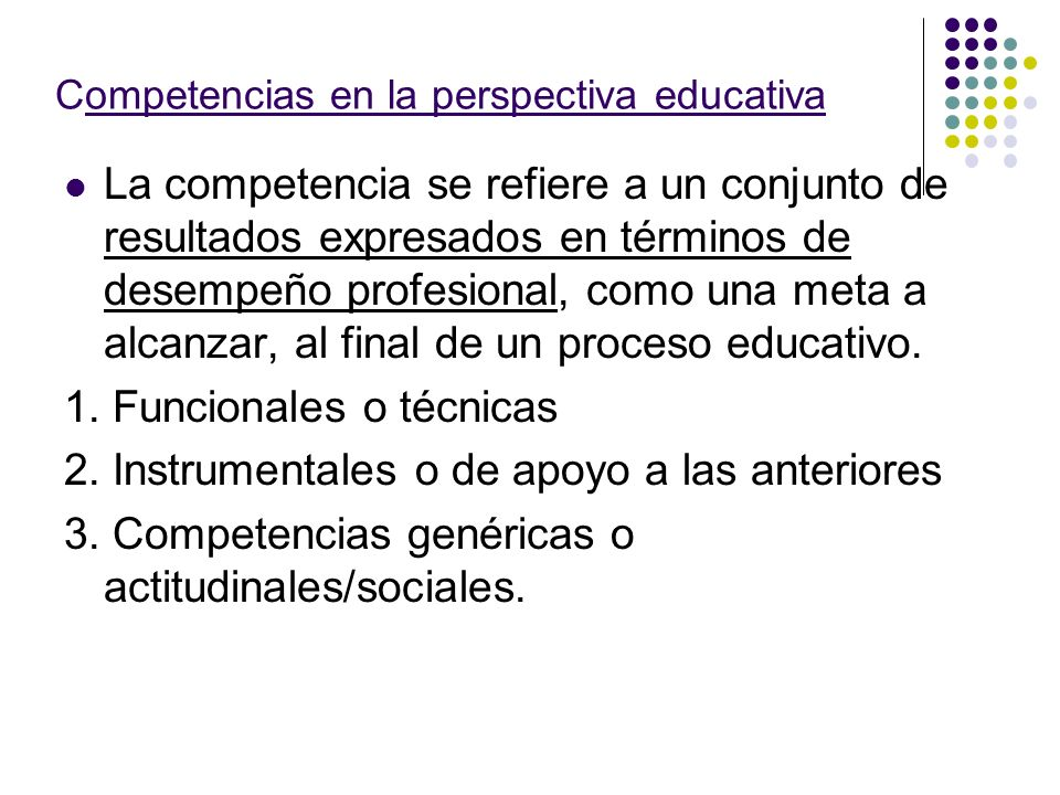 Competencias en la perspectiva educativa