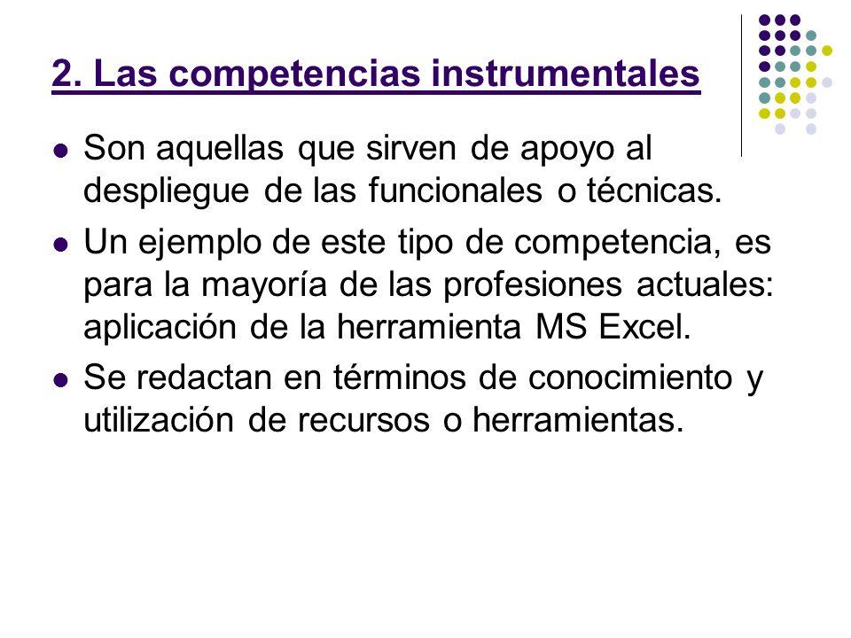 2. Las competencias instrumentales