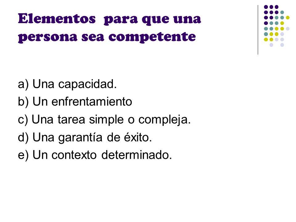 Elementos para que una persona sea competente