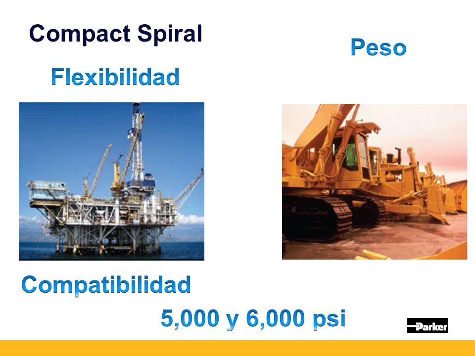 Compact Spiral Peso Flexibilidad Compatibilidad 5,000 y 6,000 psi