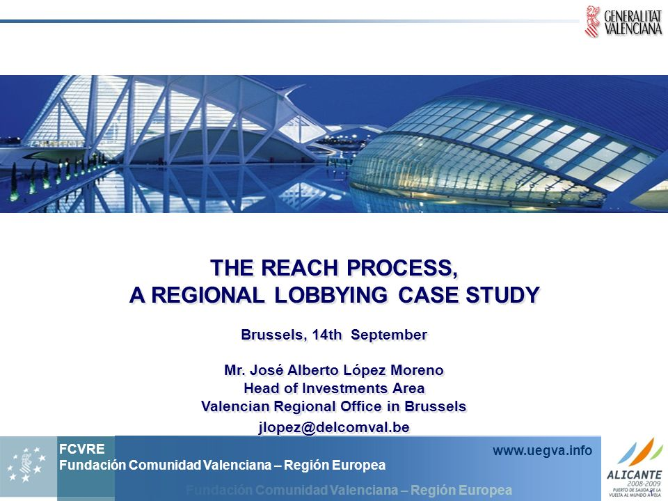 THE REACH PROCESS, A REGIONAL LOBBYING CASE STUDY
