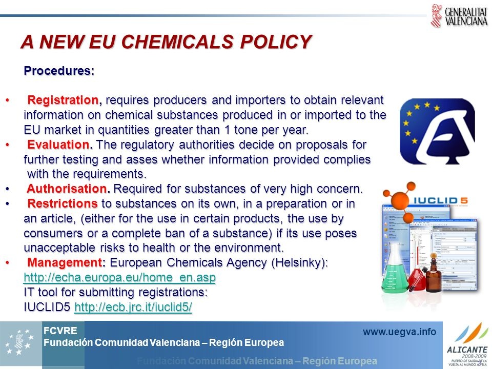 A NEW EU CHEMICALS POLICY
