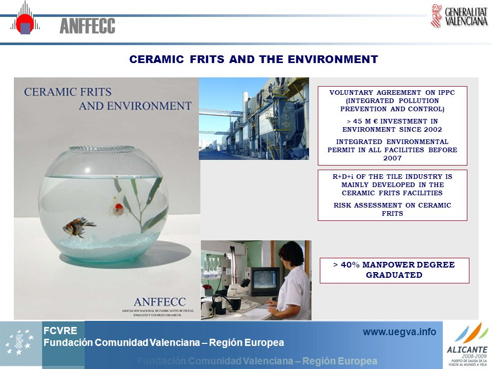 ANFFECC CERAMIC FRITS AND THE ENVIRONMENT