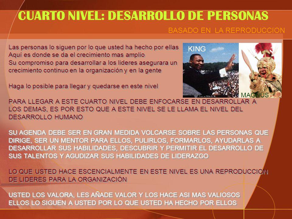 CUARTO NIVEL: DESARROLLO DE PERSONAS