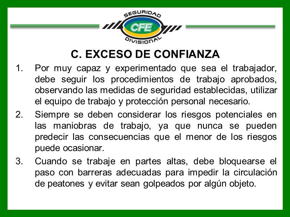 C. EXCESO DE CONFIANZA
