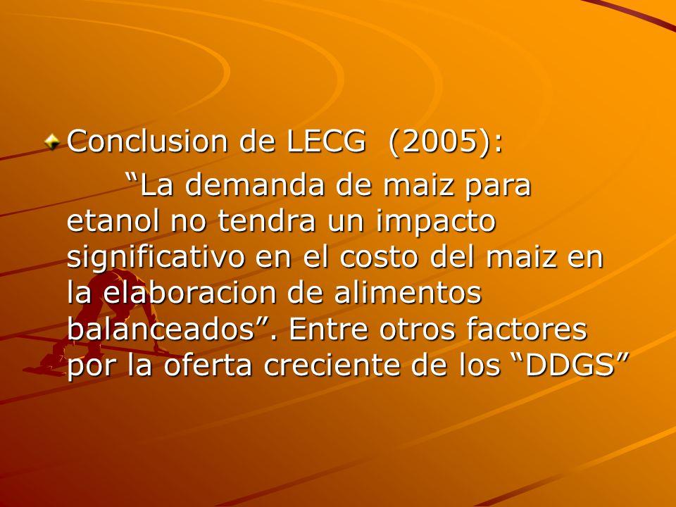 Conclusion de LECG (2005):