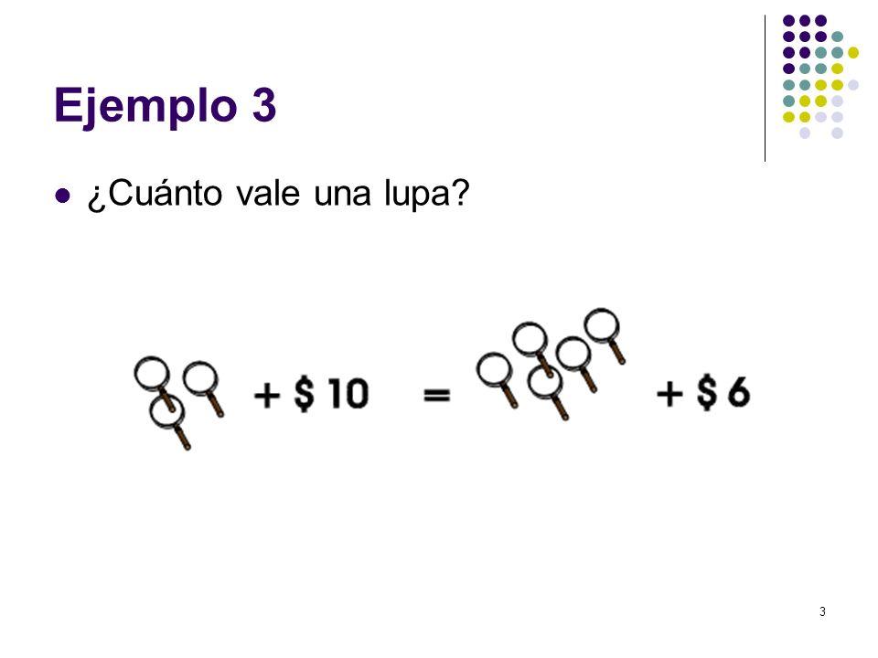 Ejemplo 3 ¿Cuánto vale una lupa