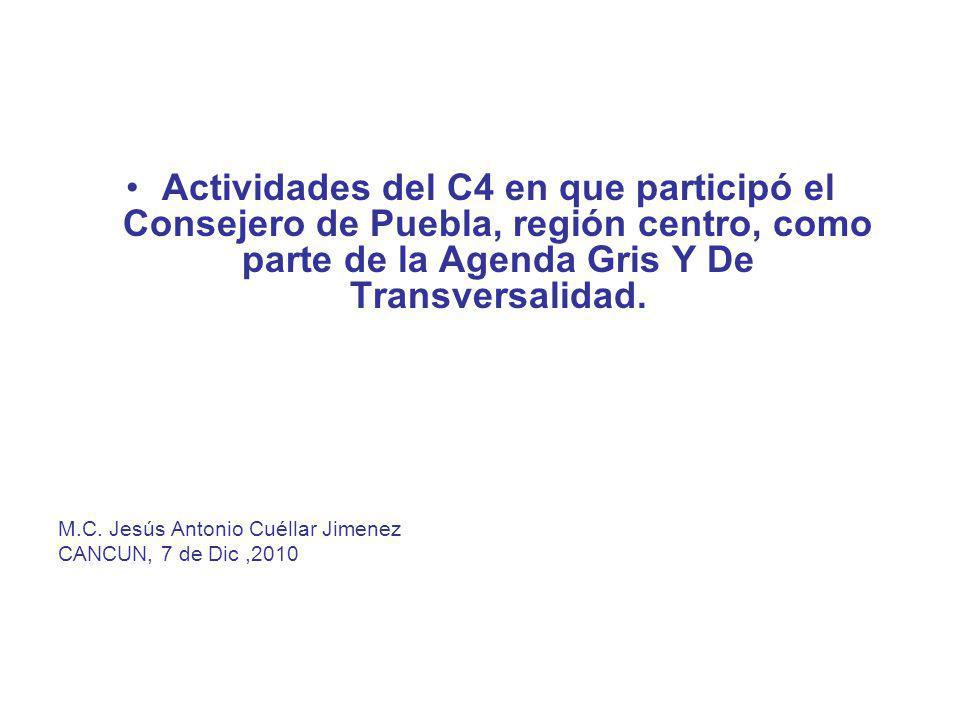 Consejo Consultivo del Cambio Climático Agenda de Transversalidad 2009
