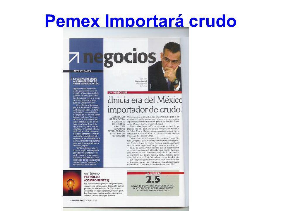 Pemex Importará crudo