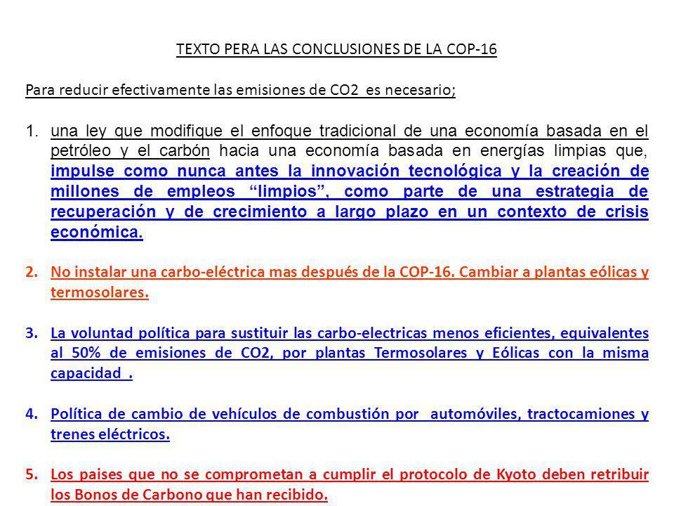 TEXTO PERA LAS CONCLUSIONES DE LA COP-16