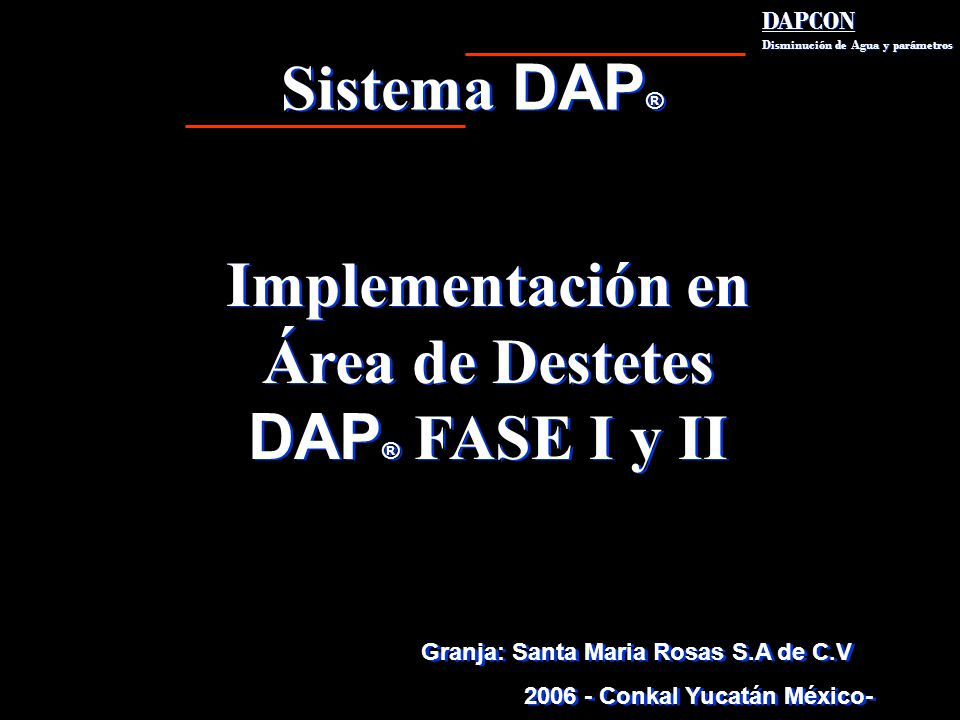 Implementación en Área de Destetes 2006 - Conkal Yucatán México-