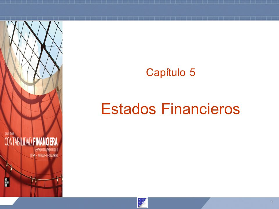 Capítulo 5 Estados Financieros