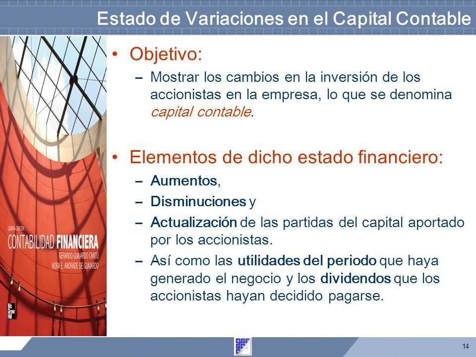 Estado de Variaciones en el Capital Contable