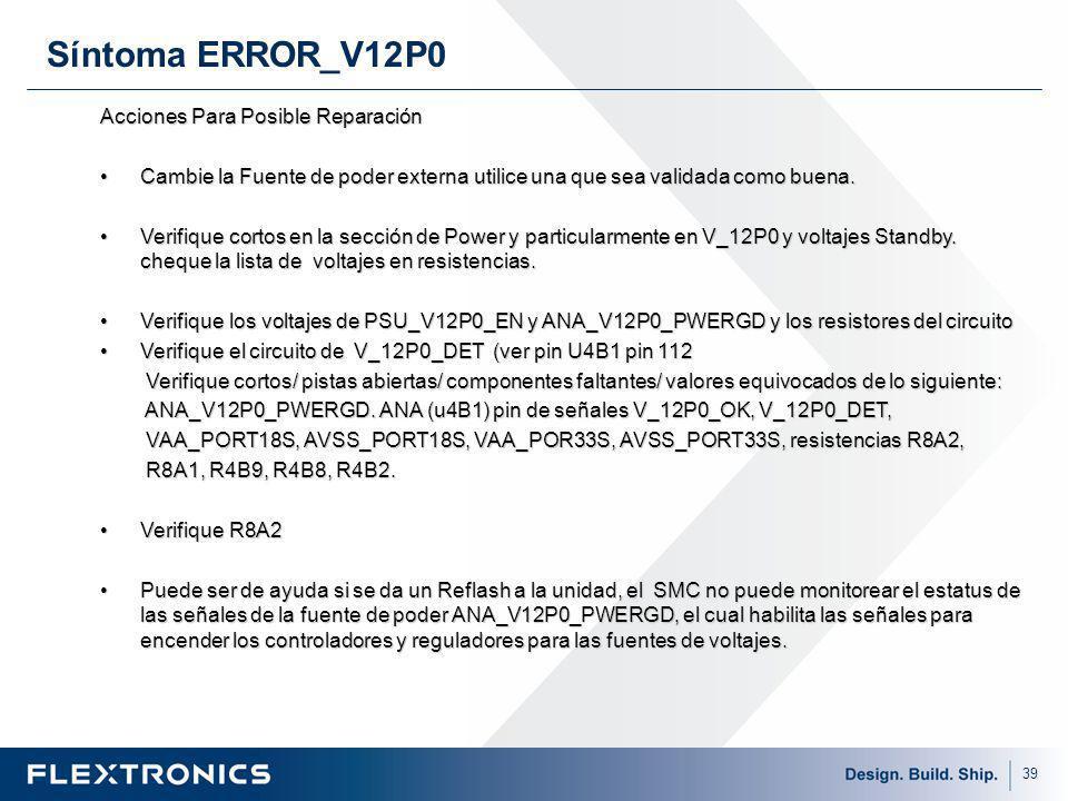 Síntoma ERROR_V12P0 Acciones Para Posible Reparación